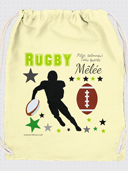 GRAND SAC A DOS rugby Existe rouge,vert, réf SC19