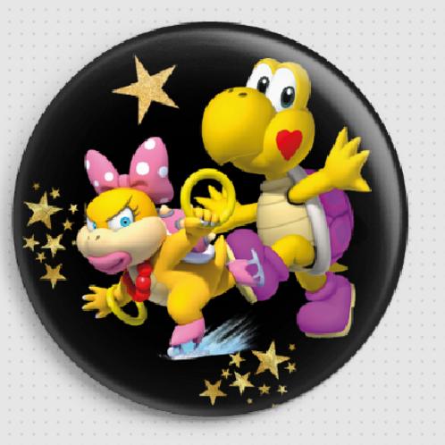 Badge rond à épingle Existe en rouge/jaune/bleu - Ø 38,45 Réf BE16