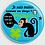 Thumbnail: Badge rond  Ø38mm Personnalisable Existe bleu/gris/rouge/jaune Réf BP10
