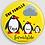 Thumbnail: Badge rond à épingle Existe en rouge/jaune - Ø 38,45 Réf BE7