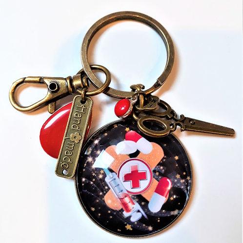 Porte clé - bijoux de sac MÉDICAL  Réf PTC014