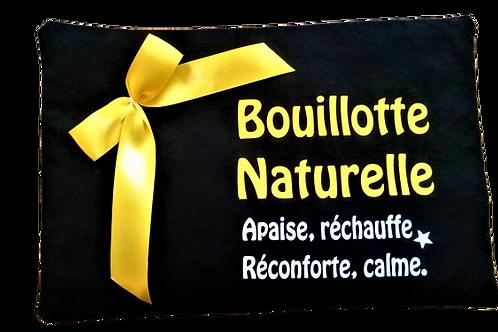 """BOUILLOTTE Réf BA23 tissus NOIR """"endométriose"""""""