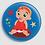 Thumbnail: Badge rond à épingle Existe en rouge/jaune/bleu - Ø 38,45 Réf BE32