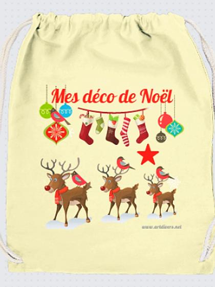 GRAND SAC RANGEMENT DECO DE NOEL REF NoH