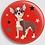 Thumbnail: Badge rond à épingle CHIW - Ø 56 Existe en rose, blanc, rouge