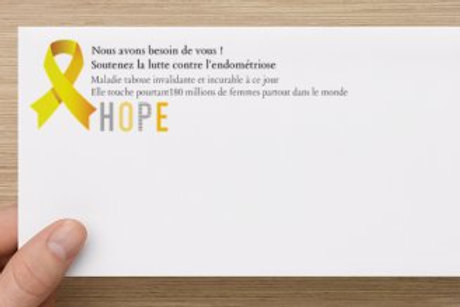 Enveloppe blanche Recto verso Endométriose Réf EV1