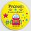 Thumbnail: Badge rond à épingle 38mm Personnalisable Existe bleu/jaune/vert Réf BP1
