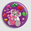 Thumbnail: Badge rond à épingle Existe en rouge/jaune/bleu - Ø 38,45 Réf BE22