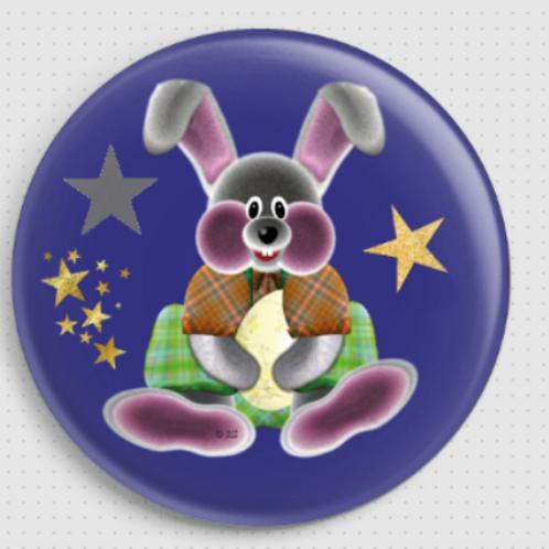 Badge rond à épingle Existe en rouge/jaune/bleu - Ø 38,45 Réf BE26