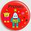 Thumbnail: Badge rond  Ø38mm Personnalisable Existe bleu/vert/rouge/jaune Réf BP9