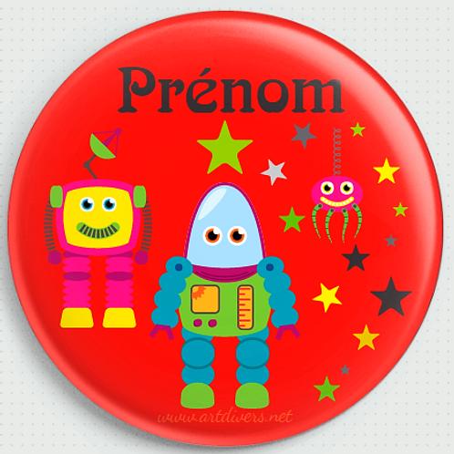 Badge rond  Ø38mm Personnalisable Existe bleu/vert/rouge/jaune Réf BP9
