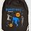 Thumbnail: GRAND SAC A DOS basket ball Existe bleu/vert/rouge réf SC23