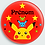 Thumbnail: Badge rond  Ø38mm Personnalisable Existe bleu/rose/rouge Réf BP12