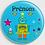 Thumbnail: Badge rond  Ø38mm Personnalisable Existe bleu/jaune/vert Réf BP3