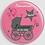 Thumbnail: Badge rond à épingle - Existe 2 coloris blanc/rose Ø 38,45,56,76 REF N9