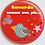 Thumbnail: Badge rond à épingle Existe en rouge,rose,gris - Ø 38,45 Réf BE3