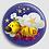 Thumbnail: Badge rond à épingle Existe en rouge/jaune/bleu - Ø 38,45 Réf BE19