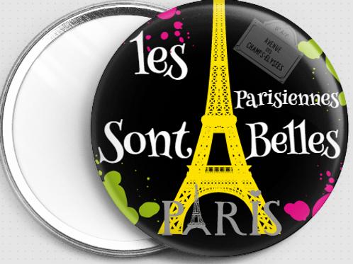 Miroir 76 mm Ø Les parisiennes sont belles REF MI 5