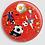 Thumbnail: Badge rond à épingle Ø 76mm  Ref B59