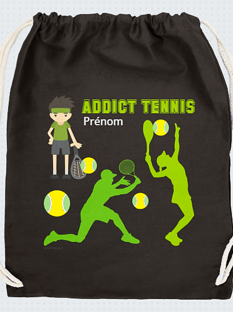 TENNIS ADDICT PERSONNALISABLE OU NON  REF SC34