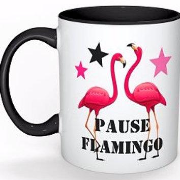 MUG PAUSE FLAMINGO