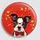 Thumbnail: Badge rond à épingle Ø 76mm  Ref B58