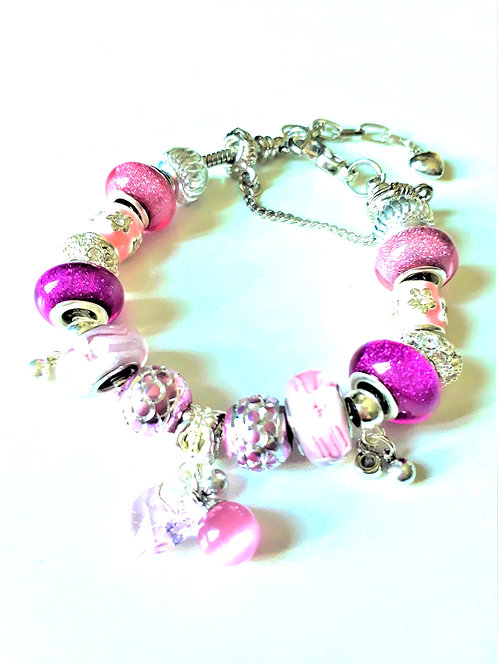 Bracelet Européen type Pandora RÉGLABLE Réf PE26