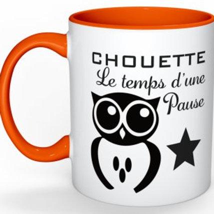 MUG CHOUETTE LE TEMPS D'UNE PAUSE
