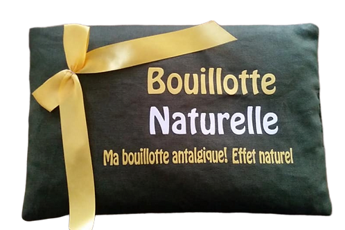 "BOUILLOTTE Réf BA33 tissus KAKI ""endométriose"""
