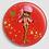 Thumbnail: Badge rond à épingle Ø 76mm  Ref Bd16