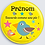 Thumbnail: Badge rond à épingle 38mm Personnalisable Existe rose/jaune/vert Réf BP