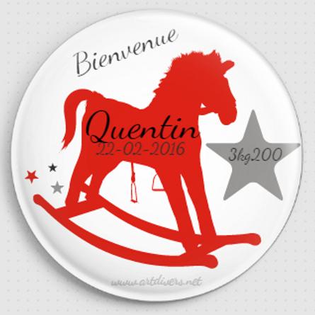 Badge rond à épingle - Existe 2 coloris de rose Ø 38,45,56,76 REF N5