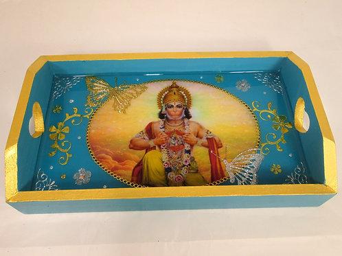 divinité hindou HANUMAN BLEU