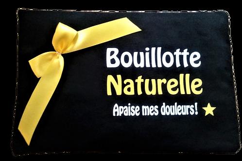 """BOUILLOTTE Réf BA20 tissus NOIR """"endométriose"""""""
