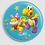 Thumbnail: Badge rond à épingle Existe en rouge/jaune/bleu - Ø 38,45 Réf BE16