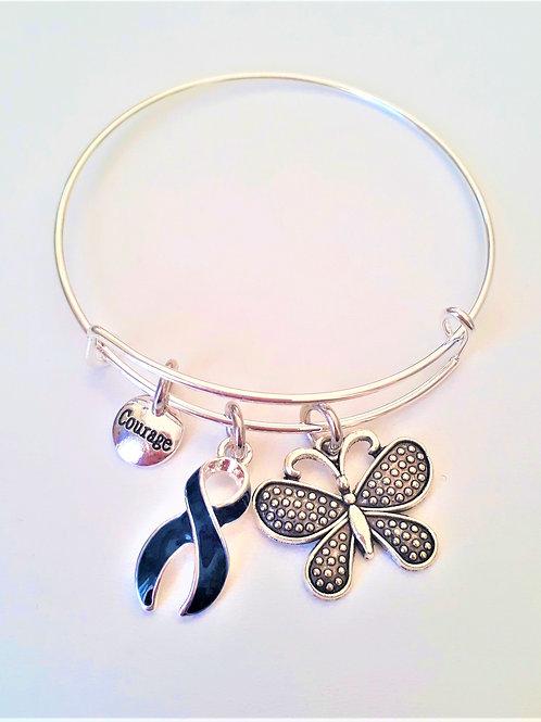 Bracelet Jonc Argenté Fibromyalgie Réf FR24