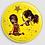 Thumbnail: Badge rond à épingle Ø 76mm  Ref Bd14
