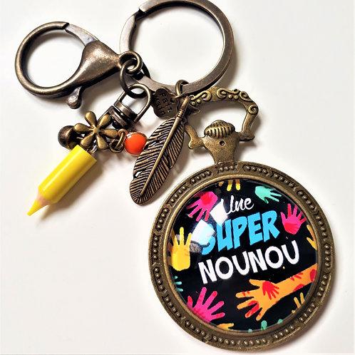 Porte clé - bijoux de sac XXL NOUNOU RéfEC61