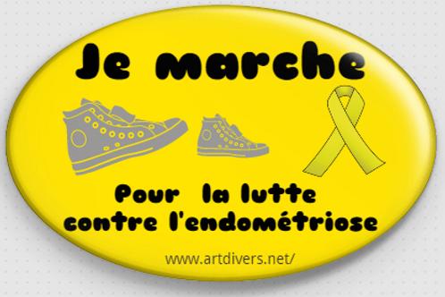 Badge ovale à épingle - Ø70x45mm  REF BD 14 existe en noir, jaune