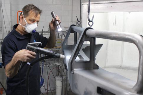 Powder coating bullbar