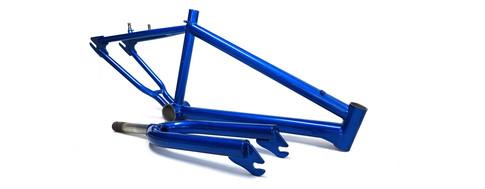 Candy blue bike frame