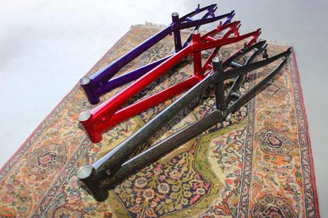 Powder coated bike frame