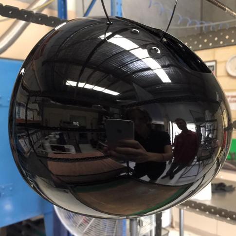Powder coating mirror black