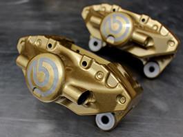 Gold powder coated brakes
