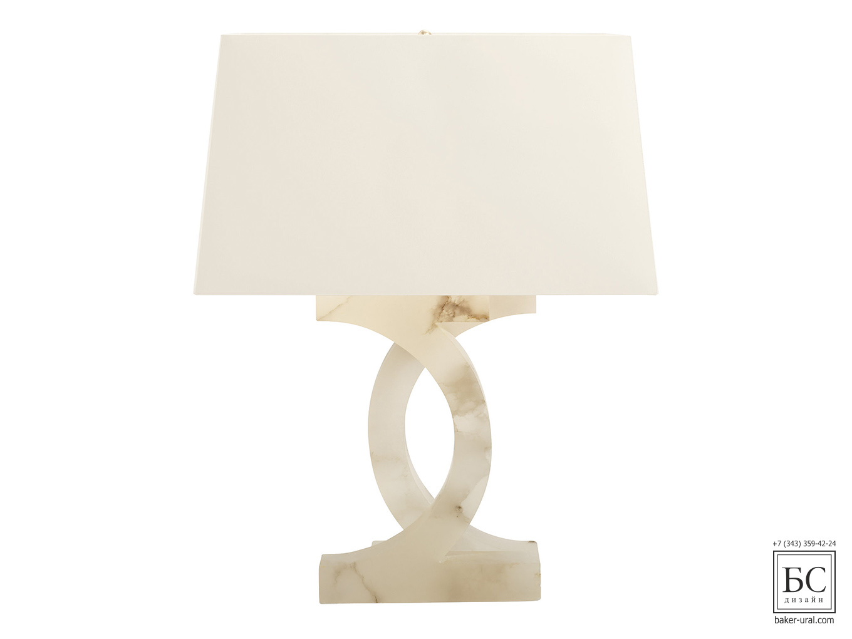 ALABASTER CONCENTRIC CIRCLES LAMP