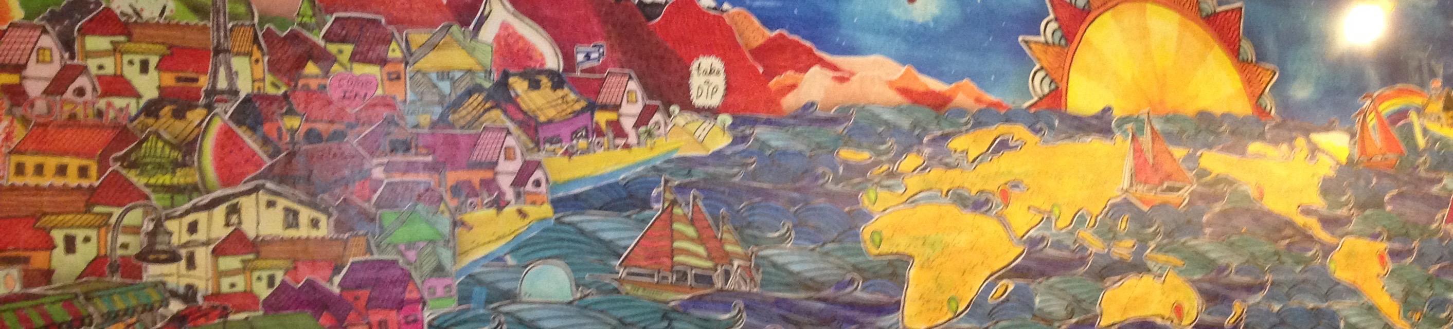 Dip In mural