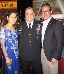 General Mark Milley, Chief of Staff of the U.S. Army plus my husband Doug Rozman (TAPS Board)