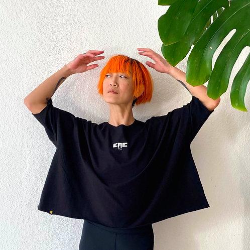T-shirt black oversize