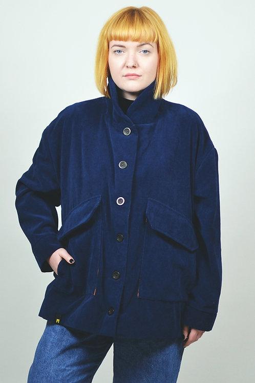 Jacket velvet cotton blue EME Clothing in Berlin