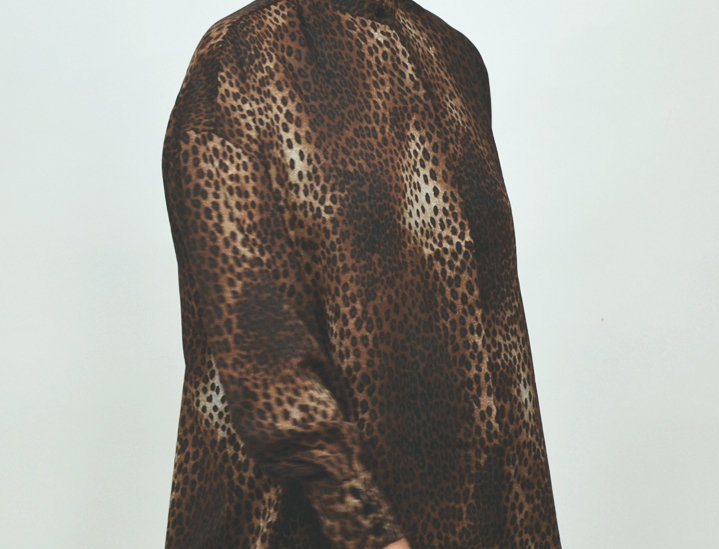 Blouse leopard brown
